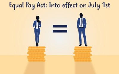 Equal Pay Act: Into effect on July 1st. How will it affect you?